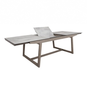 Table extensible SKAAL 200/270x105cm châssis en teck finition ...