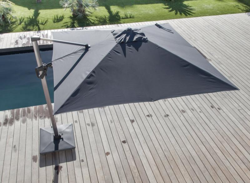 Parasol Deporte 3 X 3 M Elios Orientable Mat Coloris Royal Grey