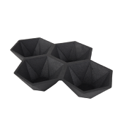Coupelle décorative HEXAGON coloris black ZUIVER