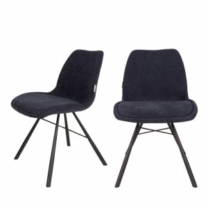 Lot de 2 chaises Brent Deep Blue