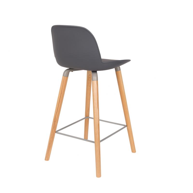 Chaise haute 65cm affordable tabouret de bar led gris for Chaise zuiver