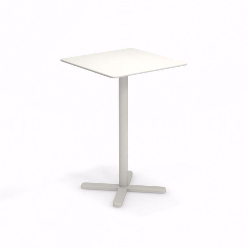 Table haute pliante Darwin - 70 x 70 x 105 cm - blanc - EMU