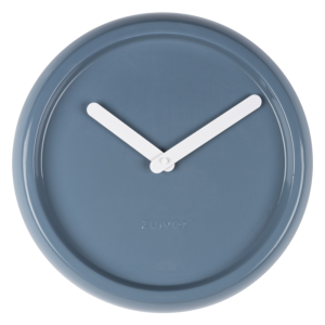 Horloge CERAMIC en porcelaine coloris blue ZUIVER