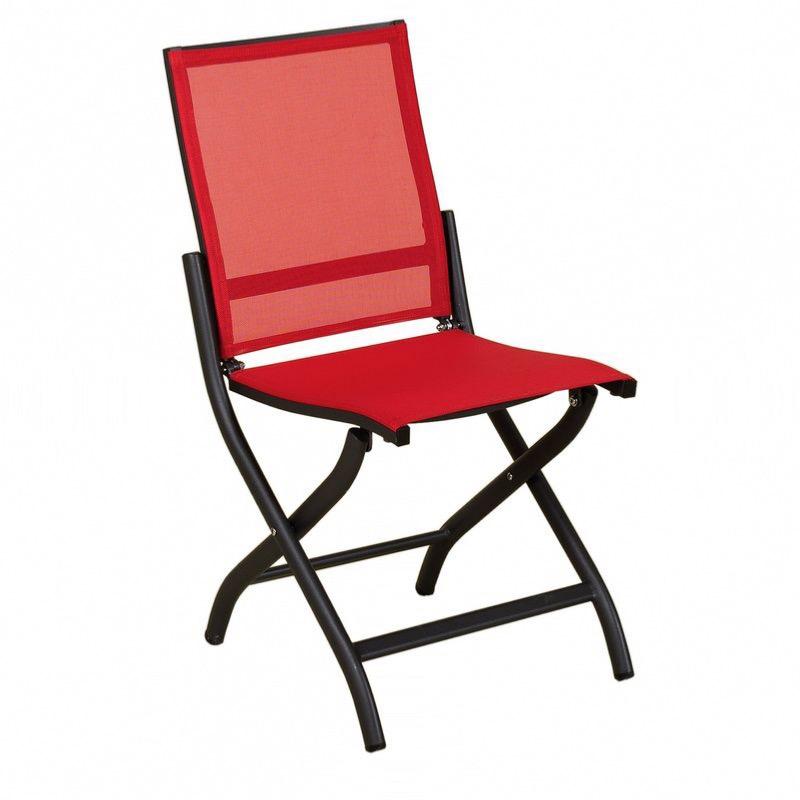 Chaise pliante BALE anthracitecorail Les Jardins