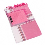 KIKOY : 2 EN 1 SERVIETTE + PAREO COLORIS Daiquiri Fraise