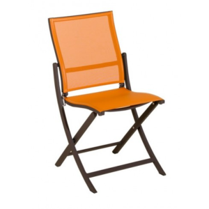 Chaise TEASER pliante marron/orange