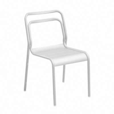 Chaise EOS châssis alu blanc empilable