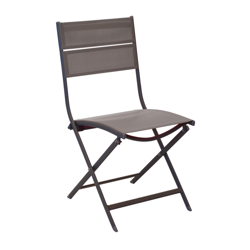 chaise win ch ssis aluminium epoxy cafe toile textilene cafe pliante oceo. Black Bedroom Furniture Sets. Home Design Ideas