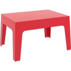 TABLE BASSE BOX ROUGE EMPILABLE