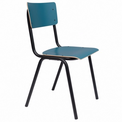 Chaise BACK TO SCHOOL Matte Petrole - ZUIVER