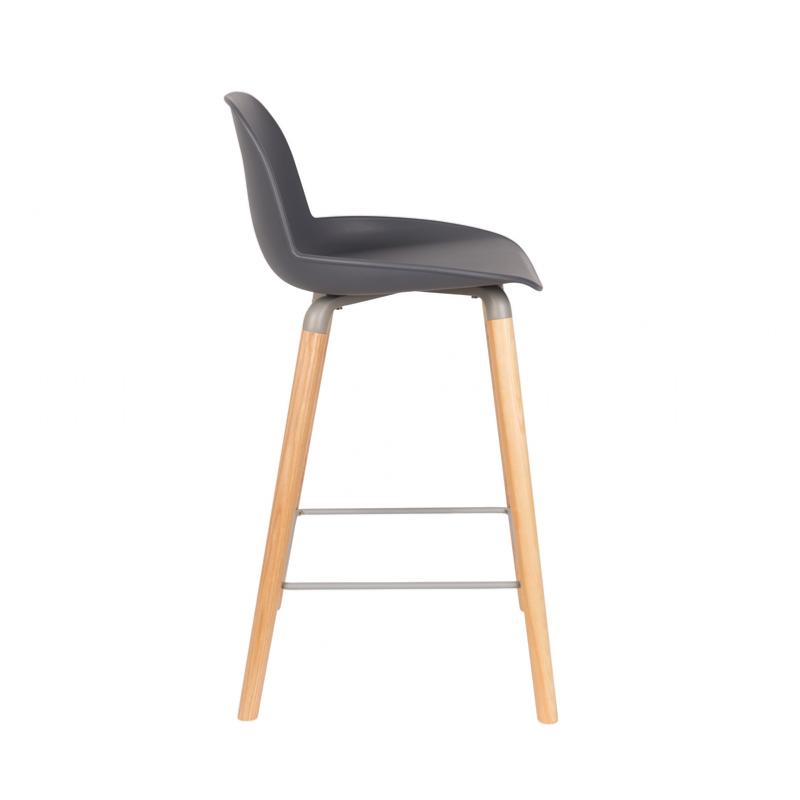 Chaise haute albert kuip coloris dark grey 65 cm zuiver for Chaise 65 cm design