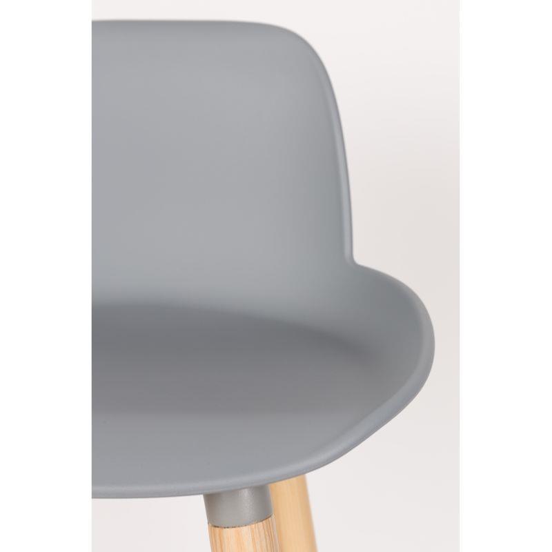 chaise haute albert kuip coloris gris clair 65 cm zuiver. Black Bedroom Furniture Sets. Home Design Ideas