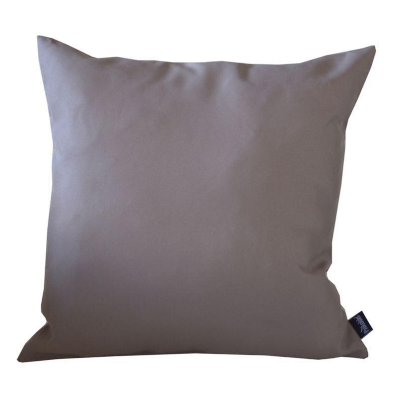 COUSSIN DECOR TAUPE, en tissu polyester 180 gr, traité déperlant ...