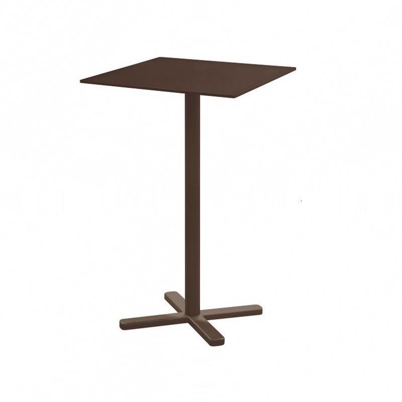 Table haute pliante Darwin - 70 x 70 x 105 cm - brun indien - EMU