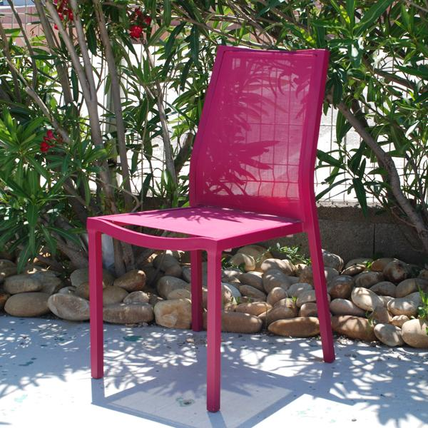 Chaise laure coloris prune for Chaise prune