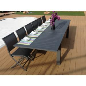 TABLE AGATHE 233/330 GREY/GREY