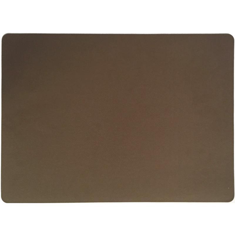SET DE TABLE STONE MARRON GLACE