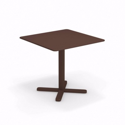 Table pliante Darwin - 80 x 80 x 74 cm - rouille - EMU