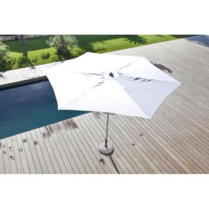 Parasol droit Easy Up Ø 330 cm plat BLANC OCEO