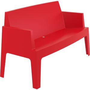 BANC/CANAPE BOX EMPILABLE ROUGE