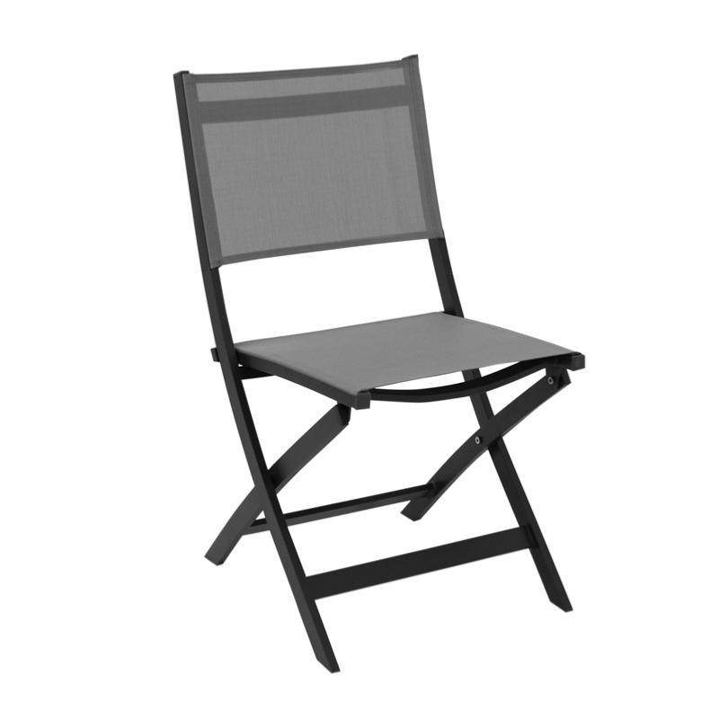 chaise rosy pliante black silverblack. Black Bedroom Furniture Sets. Home Design Ideas
