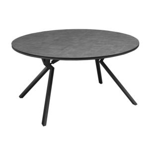 Table Loane Ronde 150 châssis alu époxy GREY Trespa HPL 8mm ANTHRACITE décor mat - OCEO
