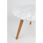 Table basse WHITE STONE L - 50x32 cm (Ø x H) - ZUIVER