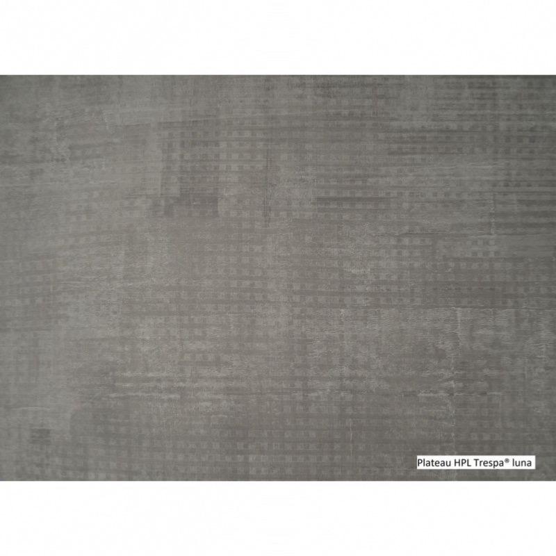 Table Milo 250/310x100x75 cm alu taupe/luna- 10/12 pers - Oceo