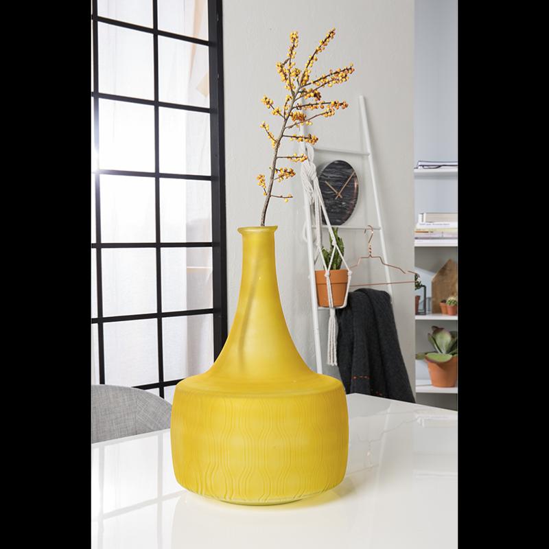 vase en verre transparent magnifique vase en verre cisel. Black Bedroom Furniture Sets. Home Design Ideas