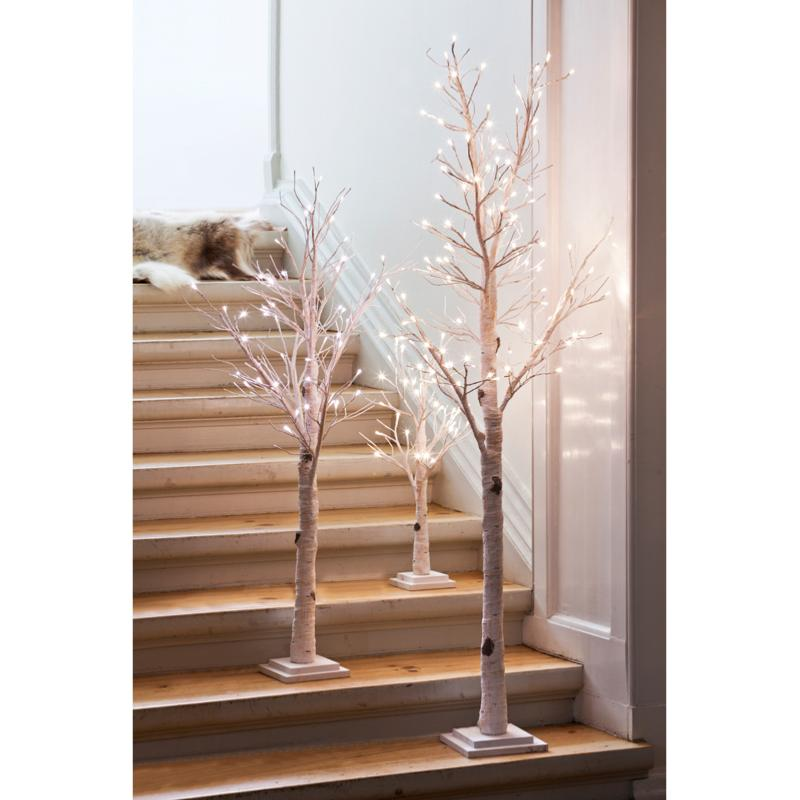 arbre decoratif freja 70 cm ecorce de bouleau lumineux 30 leds sirius. Black Bedroom Furniture Sets. Home Design Ideas