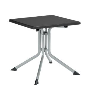 TABLE KETTALUX 70X70 ARGENT/ANTHRACITE