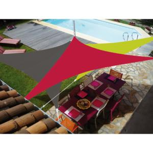 VOILE EASYSAIL TRIANGLE 3X3 ROUGE CERISE