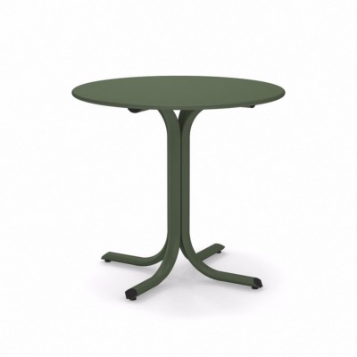 Table ronde System - vert militaire - Ø 120 cm - Emu