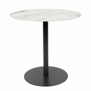 Table d'appoint Snow Noire Ronde - Zuiver