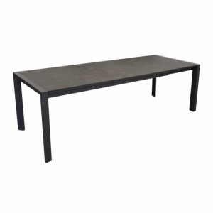 Table Milo 190/260 cm, plateau Trespa, grey/anthracite - Océo