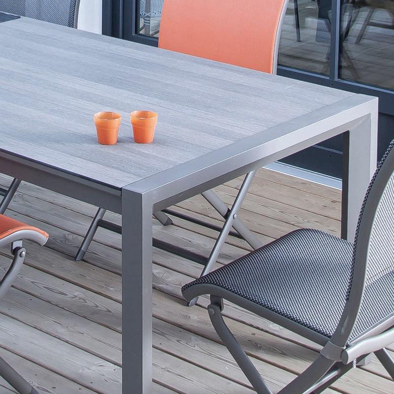 Table Milo 178 238x90 Ch Ssis Aluminium Cafe Plateau Hpl Trespa Cedar Oceo