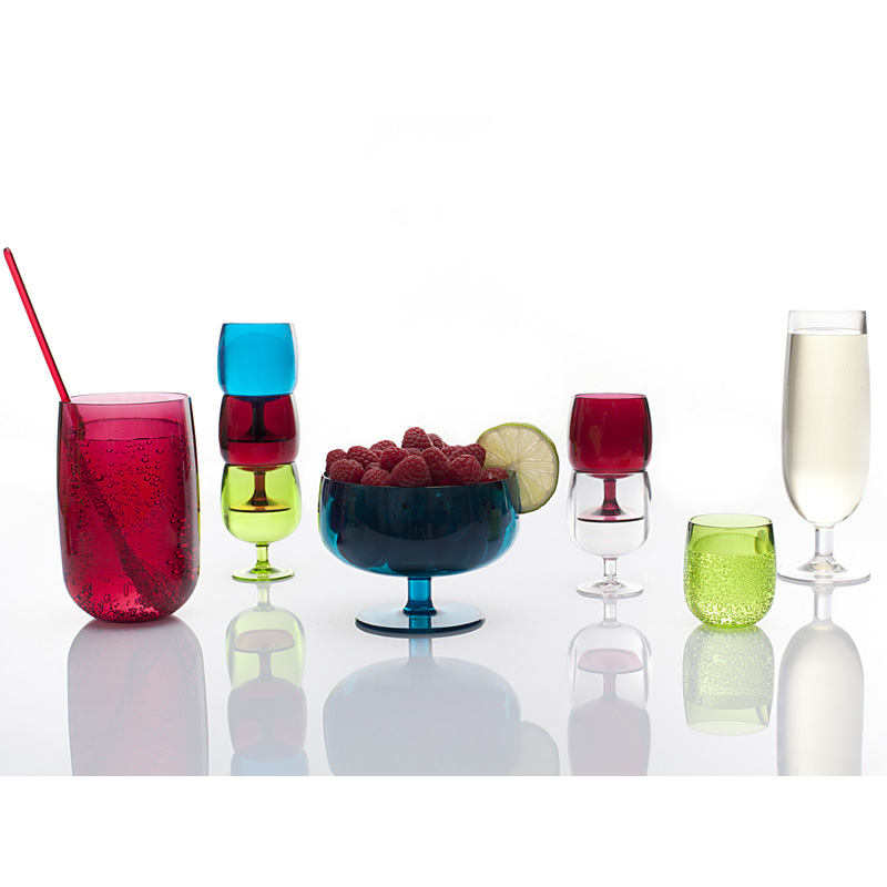 verres de table color�s