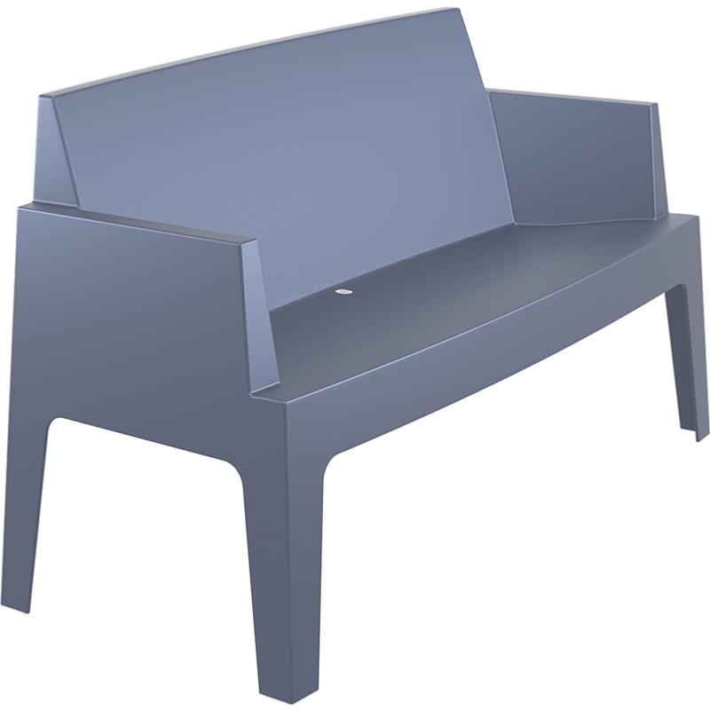 banc canape box empilable dark grey. Black Bedroom Furniture Sets. Home Design Ideas