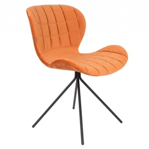 Chaise velours OMG orange - Zuiver