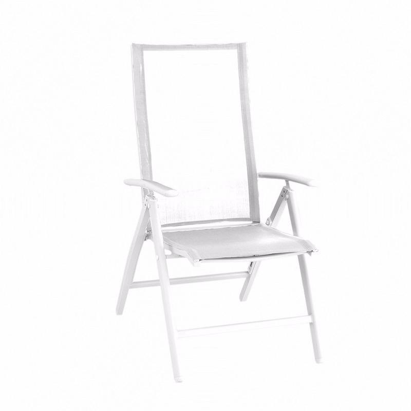 Fauteuil multiposition YORK - blanc/blanc - GARDEN ART