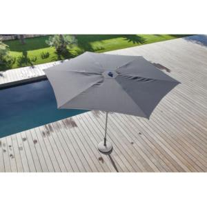 Parasol droit Easy Up Ø 330 cm plat GRIS OCEO