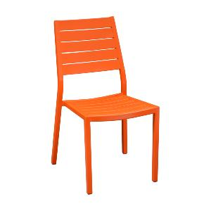 CHAISE LATIN MANDARINE EN ALU EMPILABLE OCEO