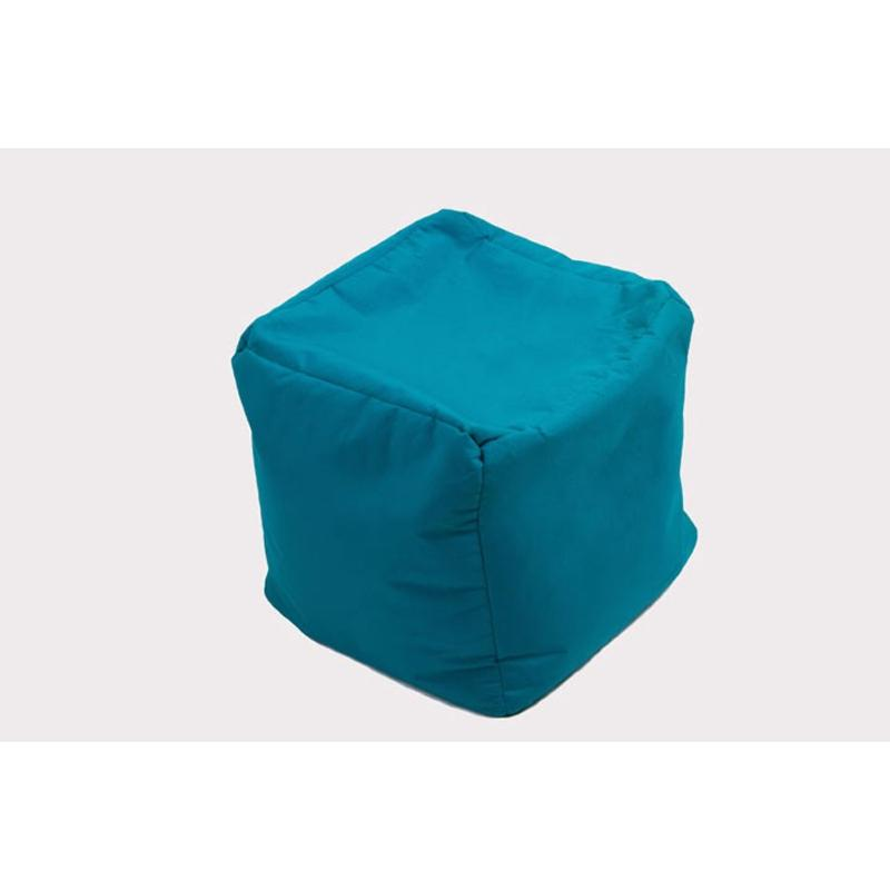 coussin cube jumbo bag coloris bleu petrole. Black Bedroom Furniture Sets. Home Design Ideas