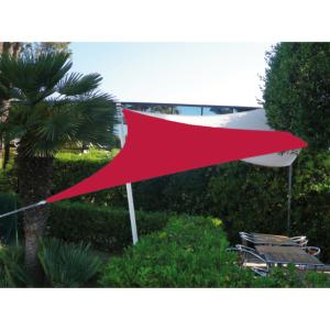 VOILE EASYSAIL TRIANGLE 4X4 ROUGE CERISE
