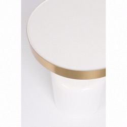 Table d'appoint GLAM - blanche - ZUIVER