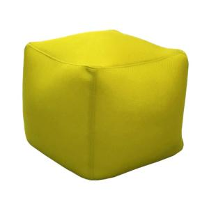 Pouf BB 40x40x40 toile polyester CITRON 220gr perforé usage piscine