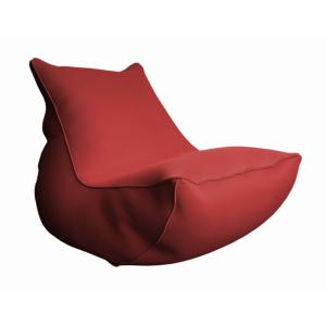 Lounge BB ROUGE toile polyester 220gr perforée usage piscine