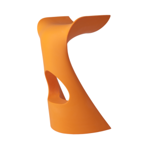 Tabouret KONCORD en polyethylène, coloris orange citrouille SLIDE