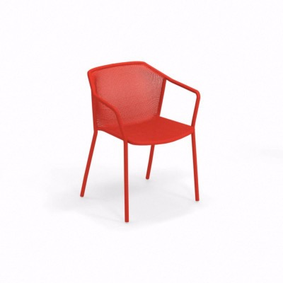 Fauteuil Darwin empilable - rouge - EMU