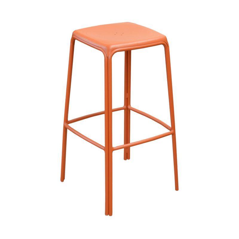 tabouret haut azuro coloris paprika. Black Bedroom Furniture Sets. Home Design Ideas